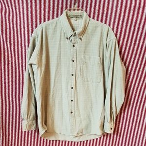 Haggar beige corduroy casual button down shirt